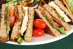 Clubhouse sandwich stock images