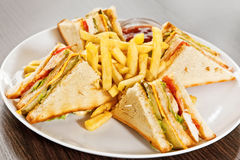Clubhouse sandwich Stock Image