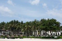 ClubMed Bintan私有海滩  免版税库存图片