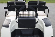 Clubs Compartment. Golf cart compartment for putting golf bag and clubs Royalty Free Stock Photography