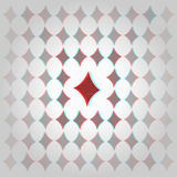 Clubs 3d geometric background Stock Photos