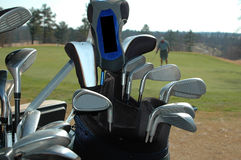 Clubs de golf Image libre de droits