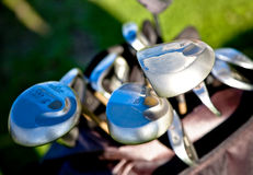 Clubs de golf abstraits Photographie stock libre de droits