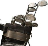 Clubs de golf dans un sac sur le terrain de golf Image libre de droits