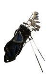 Clubs de golf en blanco Foto de archivo