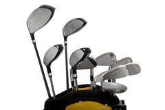 Clubs de golf en blanco Imagen de archivo libre de regalías