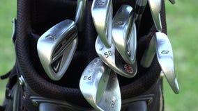 Clubs de golf, la bolsa de golf metrajes