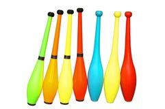 Clubs de jongleur photos stock