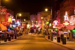 Clubs de los azules en Memphis Imágenes de archivo libres de regalías