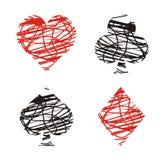 Clubs, diamanten, harten en spades vector illustratie