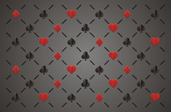 Clubs , diamonds , hearts and spades, elegant seamless pattern Stock Photography