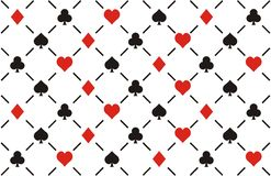 Clubs , diamonds , hearts and spades seamless patt Stock Photo