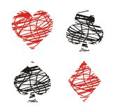 Clubs , diamonds , hearts and spades. Suitable for decorations vector illustration