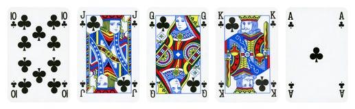 Clubs entsprechen Spielkarten lizenzfreies stockbild