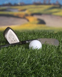 Clubs et bille de golf Photographie stock