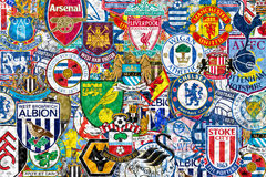 Clubs ingleses del balompié Imagen de archivo