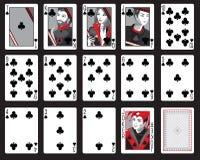 Clubs jouant des cartes Images libres de droits