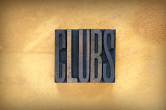 Clubs Letterpress Royalty Free Stock Photo