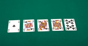 Clubs royal flush Royalty Free Stock Photos