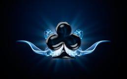 Clubs, símbolo del póker imagen de archivo libre de regalías