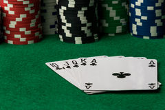 Clubs straight flush Royalty Free Stock Photo