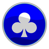 Clubs suit icon Stock Images