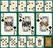 Clubs Suite Black Jack large figures Stock Photos