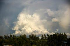 Clud w niebieskim niebie zdjęcie royalty free
