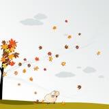 cludy φύλλα ανασκόπησης φθινο Στοκ εικόνα με δικαίωμα ελεύθερης χρήσης