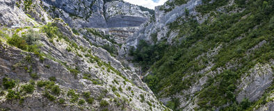 Clue de Taulanne, canyon in France Royalty Free Stock Image