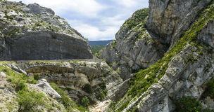 Clue de Taulanne, canyon in France Royalty Free Stock Images