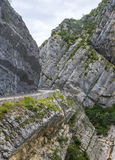 Clue de Taulanne, canyon in the French Akps Royalty Free Stock Photo