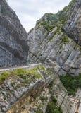 Clue de Taulanne,在法国Akps的峡谷 免版税库存照片
