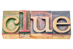 Clue word abstract Stock Image