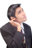 Clueless businessman doubting Royalty Free Stock Images