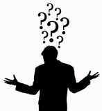 Clueless. Having lots of unanswered questions Royalty Free Stock Photos