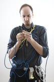 Clueless technicus Stock Afbeelding