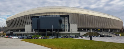Cluj Arena. Cluj-Napoca, Romania - 25,November 2014: Panoramic image of the modern stadium,Cluj Arena, on November 25, 2014.The stadium is ranked as UEFA Elite Stock Images