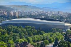 Cluj arena stadium from Cluj-Napoca city Stock Image