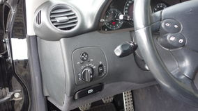 Cluj Napoca/Ρουμανία - 19 Σεπτεμβρίου 2016: Benz W209- της Mercedes έτος 2005, εξοπλισμός κομψότητας, μαύρο μεταλλικό χρώμα, σύνο Στοκ φωτογραφία με δικαίωμα ελεύθερης χρήσης