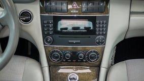 Cluj Napoca/Ρουμανία - Octomber 10, 2017: Benz W203- της Mercedes έτος 2005, εξοπλισμός πρωτοπορίας, μαύρο μεταλλικό χρώμα, σύνοδ Στοκ Εικόνες