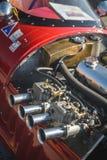 Cluj-Napoca, Румыния - гонки 24-ое сентября 2016 Klausenburg ретро - деталь двигателя хода гоночного автомобиля 4 формулы Stangue Стоковая Фотография