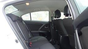 Cluj Napoca/Румыния - 9-ое мая 2017: Год 2010 Тойота Avensis-, полное оборудование варианта, фотосессия, задние сиденья Стоковая Фотография