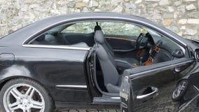 Cluj Napoca/Румыния - 19-ое сентября 2016: Год 2005 Benz W209- Мерседес, оборудование элегантности, черная металлическая краска,  Стоковое фото RF