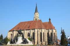 Cluj-Napoca. Town in Transylvania region of Romania. Second biggest Romanian city. St. Michael's gothic church Royalty Free Stock Photography