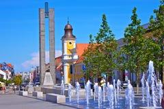 Cluj-Napoca. The union square in center of Cluj-Napoca city Stock Photography
