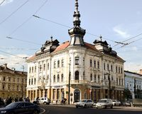 Cluj Napoca Arhitecture в Румынии стоковое фото
