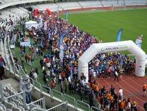 Cluj-Napoca AROBS International Marathon. Start up line at Cluj-Napoca AROBS International Marathon Royalty Free Stock Image