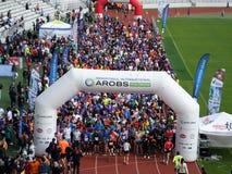 Cluj-Napoca AROBS International Marathon. Start up line at Cluj-Napoca AROBS International Marathon Stock Photography