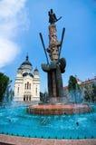 Cluj-Napoca - Avram Iancu fyrkant Royaltyfria Foton